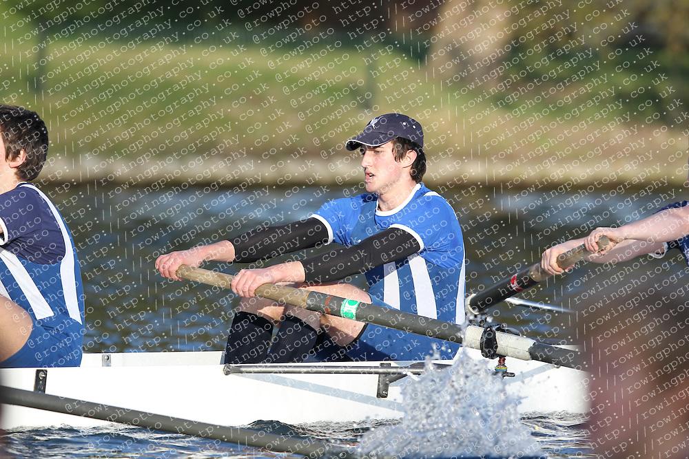 2012.02.25 Reading University Head 2012. The River Thames. Division 2. Bedford School Boat Club B Nov 8+