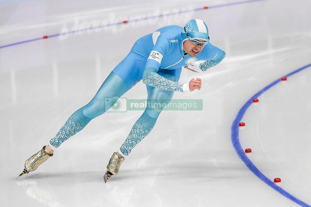 February 23, 2018 - Pyeongchang, Gangwon, South Korea - Denis Kuzin of Kazakhstan at 1000 meter speedskating at winter olympics, Gangneung South Korea on February 23, 2018. (Credit Image: © Ulrik Pedersen/NurPhoto via ZUMA Press)