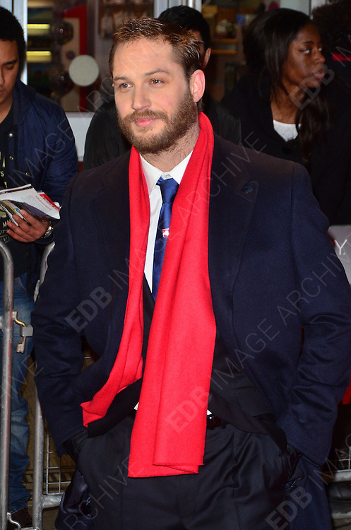 30.JANUARY.2012. LONDON<br /> <br /> TOM HARDY ATTENDS THE UK PREMIERE OF THIS MEANS WAR AT THE ODEON KENSINGTON IN LONDON<br /> <br /> BYLINE: EDBIMAGEARCHIVE.COM<br /> <br /> *THIS IMAGE IS STRICTLY FOR UK NEWSPAPERS AND MAGAZINES ONLY*<br /> *FOR WORLD WIDE SALES AND WEB USE PLEASE CONTACT EDBIMAGEARCHIVE - 0208 954 5968*