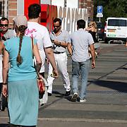 NLD/Amsterdam/20080724 - Modeshow Percy Irausquin tijdens de AIFW 2008, Geert Hoes en partner Percy Irausquin
