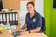 Hannah Dingley new Academy manager at Forest Green Rovers at the New Lawn, Forest Green, United Kingdom on 17 July 2019.