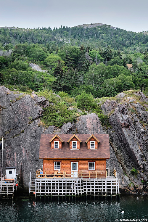 A small fishing cottage in Quidi Vidi Harbor, St. John's, Newfoundland, Canada