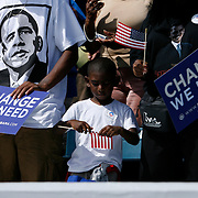 "TP_296210_ALLE_Obama_01.WILLIE J. ALLEN JR.  |   Times.(10/20/2008).Barack Obama will hold an ""early vote for change"" rally Monday at Legends Field Monday to promote the start of early voting in Florida.(WILLIE J. ALLEN JR.   