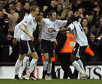 Photo: Paul Thomas.<br /> Tottenham Hotspur v Arsenal. Calring Cup, Semi Final 1st Leg. 24/01/2007.<br /> <br /> Spurs celebrate Julio Baptista's own goal.