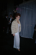 Cleo Rocos. The Black and White Winter Ball. Old Billingsgate. London. 8 February 2006. -DO NOT ARCHIVE-© Copyright Photograph by Dafydd Jones 66 Stockwell Park Rd. London SW9 0DA Tel 020 7733 0108 www.dafjones.com
