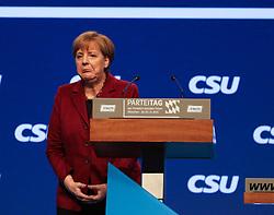 """20.11.2015, Messe Muenchen, Muenchen, GER, CSU Parteitag 2015, Festakt """"70 Jahre CSU"""", im Bild Bundeskanzlerin Dr. Angela Merkel verlaesst offensichtlich enttaeuscht das Rednerpult, // during ceremony """"70 years CSU"""" of CSU party convention in 2015 at the Messe Muenchen in Muenchen, Germany on 2015/11/20. EXPA Pictures © 2015, PhotoCredit: EXPA/ Eibner-Pressefoto/ Krieger<br /> <br /> *****ATTENTION - OUT of GER*****"""
