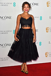 © Licensed to London News Pictures. 13/02/2016. ANTONIA THOMAS attends the BAFTA Lancôme Nominees' Party held at Kensington Palace. London, UK. Photo credit: Ray Tang/LNP
