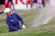 Lydia Hall escapes from a fairway bunker during the Ricoh Women's British Open golf tournament at Royal Lytham and St Annes Golf Club, Lytham Saint Annes, United Kingdom on 4 August 2018. Picture by Simon Davies.
