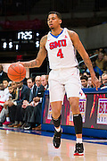 DALLAS, TX - NOVEMBER 26: Keith Frazier #4 of the SMU Mustangs brings the ball up court against the Texas Southern Tigers on November 26, 2014 at Moody Coliseum in Dallas, Texas.  (Photo by Cooper Neill/Getty Images) *** Local Caption *** Keith Frazier