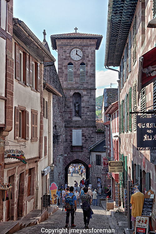 For many people the Camino to Santiago de Compostela begins in St. Jean Pied de Port, walking down the Rue de la Citadelle, which is crowded on both sides with distinctive wooden buildings, to the Porte Nôtre Dame and across the Rivière Nive over a lovely old bridge.