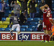 Picture by David Horn/Focus Images Ltd +44 7545 970036<br /> 03/12/2013<br /> Martyn Woolford of Millwall celebrates scoring his team's second goal to make it 2-1 during the Sky Bet Championship match at The Den, London.