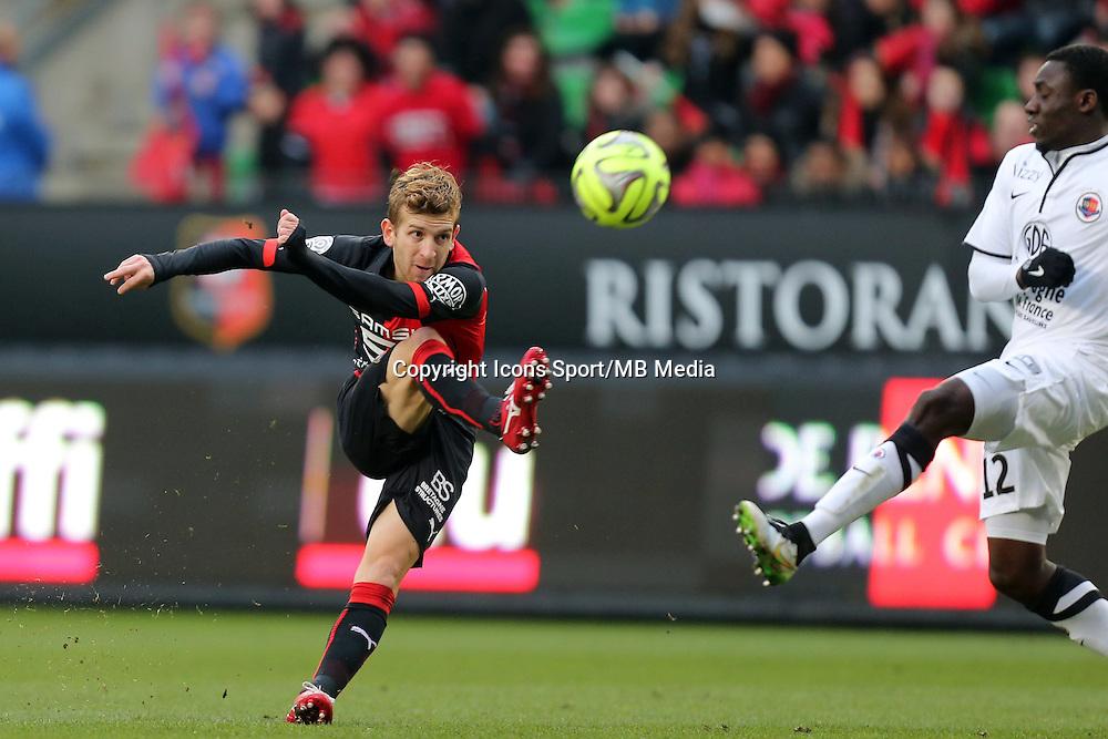 Pedro HENRIQUE  - 25.01.2015 - Rennes / Caen  - 22eme journee de Ligue1<br /> Photo : Vincent Michel / Icon Sport *** Local Caption ***