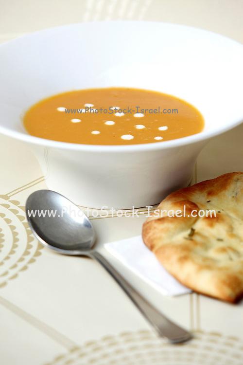 Pumpkin Soup with sour cream
