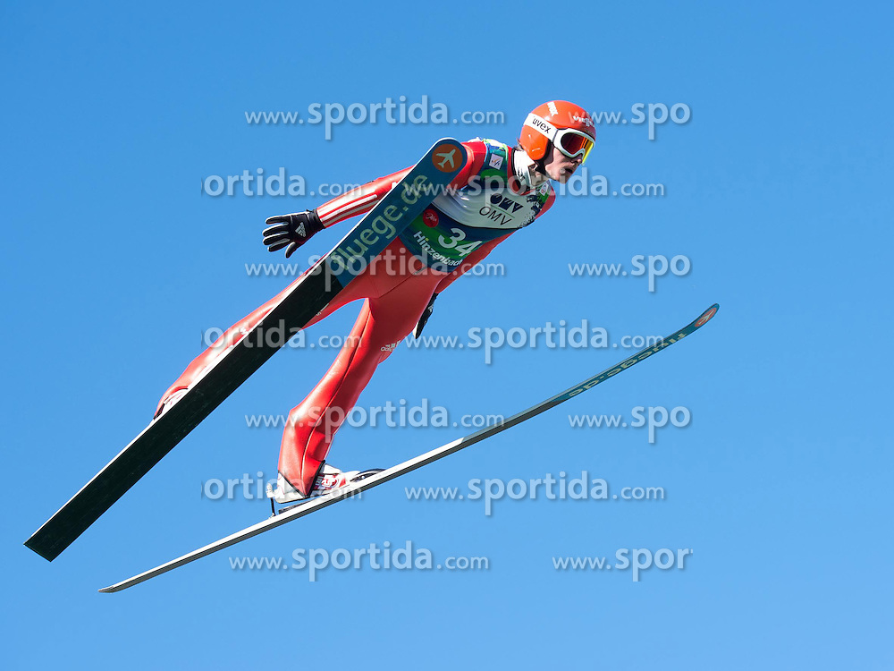 28.09.2014, Energie AG Skisprung Arena, Hinzenbach, AUT, FIS Ski Sprung, Sommer Grand Prix, Hinzenbach, im Bild Richard Freitag (GER) during FIS Ski Jumping Summer Grand Prix at the Energie AG Skisprung Arena, Hinzenbach, Austria on 2014/09/28. EXPA Pictures © 2014, PhotoCredit: EXPA/ Reinhard Eisenbauer
