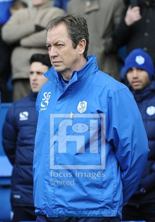 Stuart Gray Manager of Sheffield Wednesday during the Sky Bet Championship match at Hillsborough, Sheffield<br /> Picture by Richard Land/Focus Images Ltd +44 7713 507003<br /> 07/02/2015
