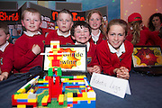 James Spellman, Louis O&rsquo; Reilly, William McGuinness, Lilly Prior and Caoimhe Kelly from Scoil Bhride new Inn at the annual Junior FIRST Lego League run by Galway Education Centre, in the Radisson blu Hotel.  Photo:Andrew Downes<br />  Photo:Andrew Downes, XPOSURE
