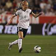 Becky Sauerbrunn, USA, in action during the U.S. Women Vs Korea Republic friendly soccer match at Red Bull Arena, Harrison, New Jersey. USA. 20th June 2013. Photo Tim Clayton