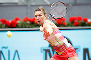 Simona Halep during the Madrid Open at Manzanares Park Tennis Centre, Madrid<br /> Picture by EXPA Pictures/Focus Images Ltd 07814482222<br /> 05/05/2016<br /> ***UK &amp; IRELAND ONLY***<br /> EXPA-ESP-160505-0078.jpg