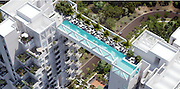 The world's scariest length? Singapore's latest skyscraper to have infinity pool 38 STOREYS above ground between two towers<br /> <br /> <br /> Swimmers braving a length of this pool will need a real head for heights - seeing as it's a staggering 38 storeys high.<br /> The infinity pool will dramatically connect Sky Habitat Singapore's two towers once the ambitious project is completed in 2016.<br /> With 509 apartments, the Moshe Safdie-designed development in the central island suburb of Bishan will offer residents stunning vistas across the area.<br /> Flat owners will also be able to traverse the two structures via sky bridges on the 14th and 26th floors. Wong Heang Fine, CEO of CapitaLand Residential Singapore which is developing the site, said: 'With Sky Habitat, we are creating a habitat for the future; a condominium that is also a house.<br /> 'While structurally a high-rise apartment, Sky Habitat will give residents the feeling of living in a house. This is because of the natural ventilation, lush gardens, sky bridges and open walkways that surround them.<br /> <br /> 'At the same time, they will enjoy the luxurious facilities and the connectivity and convenience of living in one of the most popular residential estates in Singapore.<br /> Safdie is no stranger to creating swimming pools in seemingly strange places. He also played a key part in designing the £4billio Marina Bay Sands development, also in Singapore, which has a 150metre pool 55 storeys up.<br /> <br /> The boat-shaped SkyPark is perched atop the three towers that make up the world's most expensive hotel. The open-air pools are in stark contrast to NEMO 33, which with a depth of 33metres is one of the world's deepest.<br /> The venue, in central Brussels, Belgium, contains 2.5million litres of non-chlorinated spring water and is usually reserved for scuba drivers to train in. And it is a tad smaller than the San Alfonso del Mar resort in Chile, where a quick dip could well turn into a marathon