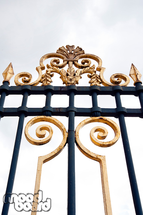 Close up of metal gates