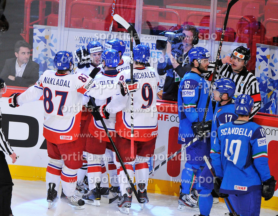 11.05.2012, Ericsson Globe, Stockholm, SWE, IIHF, Eishockey WM, Italien vs Tschechische Republik, im Bild Czech Republic 93 Petr Nedved (Billi Tygri Liberec) GOAL // during the IIHF Icehockey World Championship Game between Italy and Czech Republic at the Ericsson Globe, Stockholm, Sweden on 2012/05/11. EXPA Pictures © 2012, PhotoCredit: EXPA/ PicAgency Skycam/ ATTENTION - OUT OF SWE *****