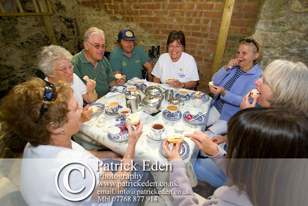 Warren Farm, Tea Rooms, Cream Tea, Walkers, Tennyson Down, Needles, Headon Warren, Isle of Wight Walking Festival. Totland Photographs of the Isle of Wight by photographer Patrick Eden photography photograph canvas canvases