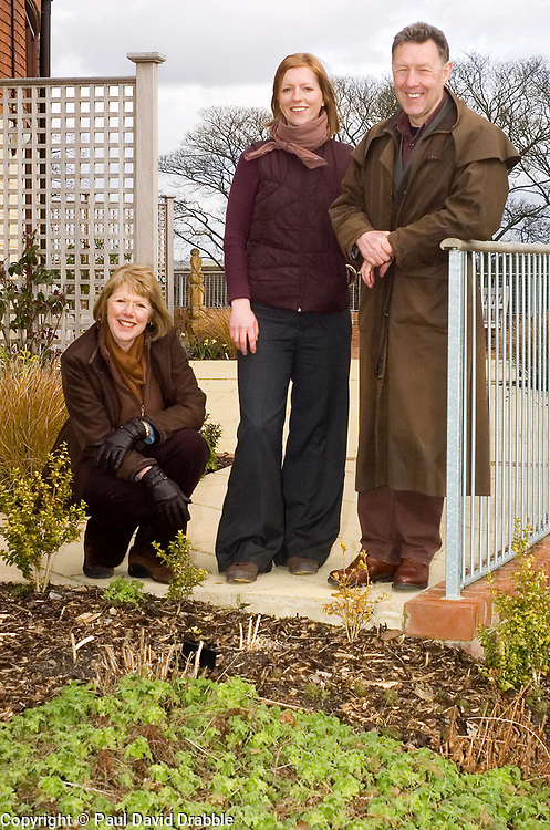 Chris and Nigel Parsons with Associate Rebecca 27th March 2009 © Paul David Drabble
