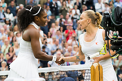 LONDON, ENGLAND - Monday, July 4, 2016:  Serena Williams (USA) winning the Ladies' Single 4th Round match on day eight of the Wimbledon Lawn Tennis Championships at the All England Lawn Tennis and Croquet Club. (Pic by Kirsten Holst/Propaganda)