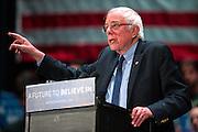 Democratic presidential candidate Sen. Bernie Sanders (I-Vt.) speaks during a campaign stop at the Scranton Cultural Center in Scranton, Pa. on Thursday, April 21, 2016.<br /> (Christopher Dolan / The Scranton Times-Tribune via AP)