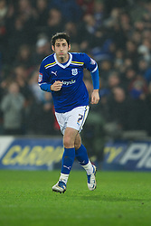 CARDIFF, WALES - Tuesday, January 24, 2012: Cardiff City's Peter Whittingham in action against Crystal Palace during the Football League Cup Semi-Final 2nd Leg at the Cardiff City Stadium. (Pic by David Rawcliffe/Propaganda)