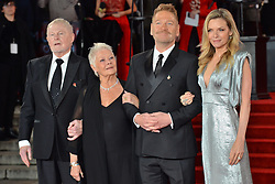 © Licensed to London News Pictures. 02/11/2017. London, UK. DEREK JACOBI, JUDI DENCH, K ENNETH BRANAGH  and MICHELLE PFEIFFER attends the World Film premiere of Murder On The Orient Express . Photo credit: Ray Tang/LNP