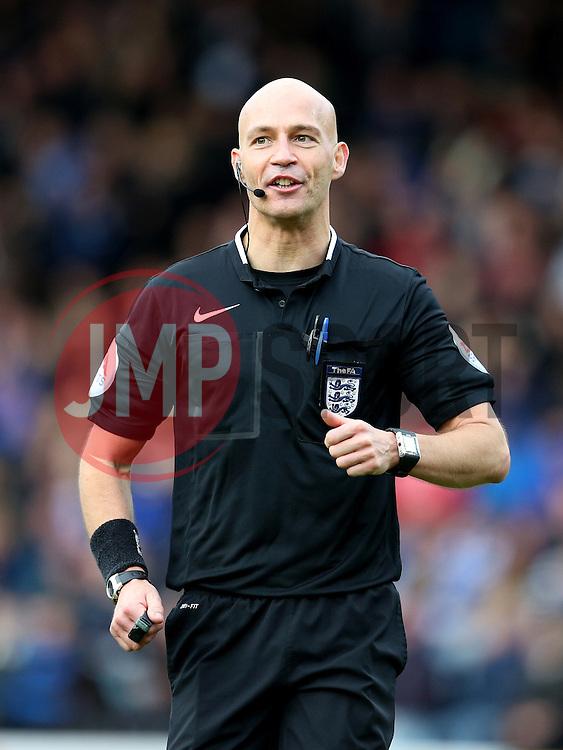 Referee Mr Darren Drysdale - Mandatory byline: Matt McNulty/JMP - 06/12/2015 - Football - Spotland Stadium - Rochdale, England - Rochdale v Bury - FA Cup