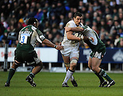 Twickenham, GREAT BRITAIN, Newcastles Phil DOWSON going for the gap, during the Guinness Premiership match,  London Irish vs Newcastle Falcon at the Madjeski  Stadium, Reading. on Sat )3.01.2009. [Photo, Peter Spurrier/Intersport-images]