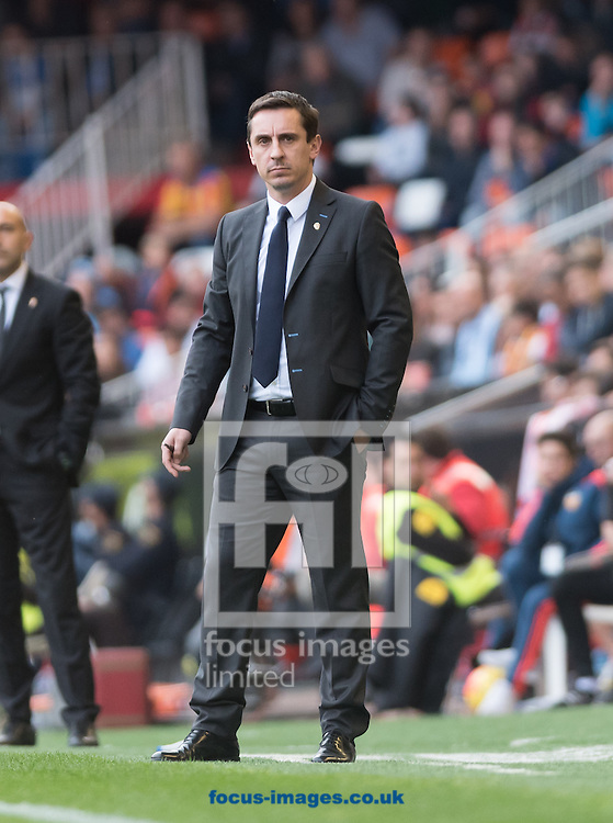 Gary Neville head of Valencia Club de F&uacute;tbol during the La Liga match at Mestalla, Valencia<br /> Picture by Maria Jose Segovia/Focus Images Ltd +34 660052291<br /> 31/01/2016