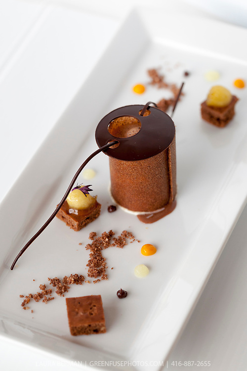 Best Chocolate Plated Dessert by Gregoire Voyer at the Canadian Intercollegiate Chocolate Competition April 13- 14, 2013.