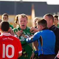 sideline scuffle during the Intermediate Football Final Replay between Corofin and Wolfe Tones