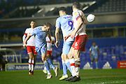 Matthew Godden of Coventry City (24) scores a goal with a header during the EFL Sky Bet League 1 match between Coventry City and Rotherham United at the Trillion Trophy Stadium, Birmingham, England on 25 February 2020.