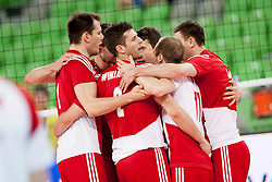 Players of Poland during volleyball match between National teams of Slovenia and Poland in 4th Qualification game of CEV European Championship 2015 on May 23, 2014 in Arena Stozice, Ljubljana, Slovenia. Photo by Urban Urbanc / Sportida