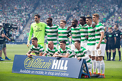Celtic team line up before the William Hill Scottish Cup Final at Hampden Park, Glasgow.