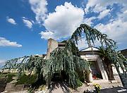 Italy, San Vito d'Altivole. Tomba Brion (Brion Tomb and Sanctuary) by Carlo Scarpa.