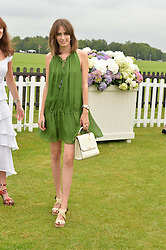 LADY ALICE MANNERS at the Cartier Queen's Cup Polo final at Guard's Polo Club, Smiths Lawn, Windsor Great Park, Egham, Surrey on 14th June 2015