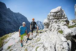 THEMENBILD - Bergsteigen im Nationalpark Gesäuse, Planspitze, aufgenommen am 25.08.2017, Admont, Österreich // mountaineering in the Gesaeuse National Park, taken on 2017/08/25, Admont, Austria, EXPA Pictures © 2017, PhotoCredit: EXPA/ Dominik Angerer