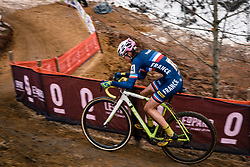Evita MUZIC of FRA during the Women Under 23 race, UCI Cyclo-cross World Championship at Bieles, Luxembourg, 28 January 2017. Photo by Pim Nijland / PelotonPhotos.com | All photos usage must carry mandatory copyright credit (Peloton Photos | Pim Nijland)