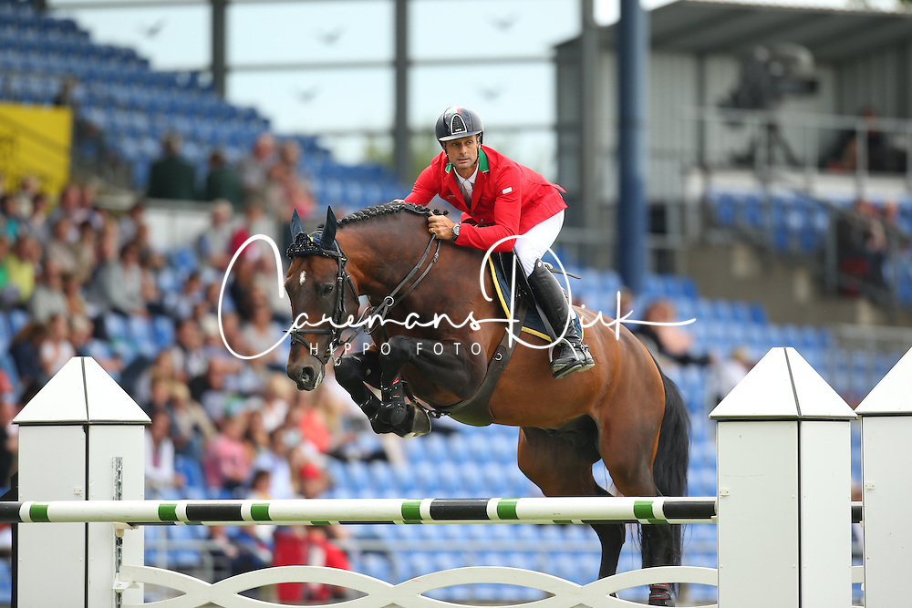Da Rios Daniele Augusto, (ITA), For Passion<br /> Team Competition round 1 and Individual Competition round 1<br /> FEI European Championships - Aachen 2015<br /> &copy; Hippo Foto - Stefan Lafrentz<br /> 19/08/15