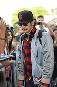 Actor James Franco arrives in Venice by Boat