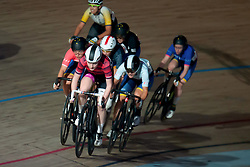 February 8, 2019 - Melbourne, VIC, U.S. - MELBOURNE, VIC - FEBRUARY 08: Abbie Dentus of The United Kingdom in action at The Six Day Cycling Series on February 08, 2019 at Melbourne Arena, VIC. (Photo by Speed Media/Icon Sportswire) (Credit Image: © Speed Media/Icon SMI via ZUMA Press)