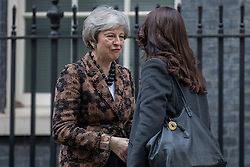 © Licensed to London News Pictures. 21/01/2019. London, UK. Prime Minister Theresa May greets Prime Minister of New Zealand Jacinda Ardern outside 10 Downing Street. Photo credit: Rob Pinney/LNP