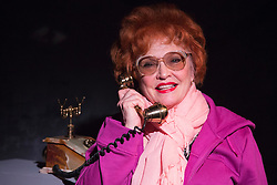 © Licensed to London News Pictures. Sandra Dickinson as Lucille Ball. 03/02/2016. I Loved Lucy, a play remembering Lucille Ball by Lee Tannen, starring Sandra Dickinson as Lucy and Matthew Bunn as Lee opens at the Jermyn Street Theatre. The comedy directed by Anthony Biggs runs from 2 to 27 February 2016. London, UK. Photo credit: Bettina Strenske/LNP
