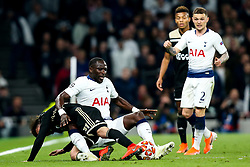 Moussa Sissoko of Tottenham Hotspur tackles Nicolas Tagliafico of Ajax - Mandatory by-line: Robbie Stephenson/JMP - 30/04/2019 - FOOTBALL - Tottenham Hotspur Stadium - London, England - Tottenham Hotspur v Ajax - UEFA Champions League Semi-Final 1st Leg