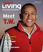Cover of Oklahoma Living Magazine February 2013 featuring Oklahoma Speaker of the House TW Shannon.